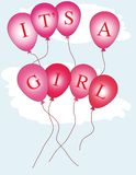 It's a girl balloons Stock Image