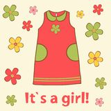 It`s a girl card Stock Image