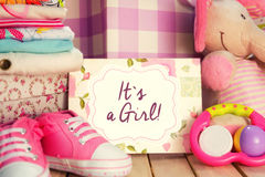 It`s a girl card. Stock Photography