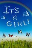 'It's a girl' greeting card Royalty Free Stock Photos