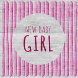It`s a girl. New baby girl. Baby Shower Greeting Card. Watercolor creative greeting cards template. Baby Shower Invitation Card. It`s a girl. New baby girl Stock Images