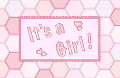 It's a girl patchwork Royalty Free Stock Photos