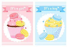 It`s a girl. It`s a boy. Baby Shower. Royalty Free Stock Images