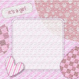 It's a girl shower. It's a girl vintage background, greeting, invitation Stock Images