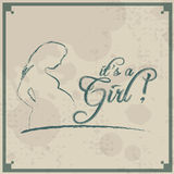 It's a Girl! Vintage background Royalty Free Stock Image
