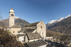 S. Giulio church, Crodo, Ossola Stock Photos