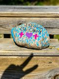 It`s gonna be okay on beachfront boardwalk and victory sign Myrtle Beach South Carolina.  royalty free stock images
