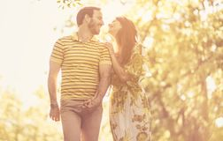 It`s always a good feeling when they`re together. Spring season is beautiful time of year for love royalty free stock image