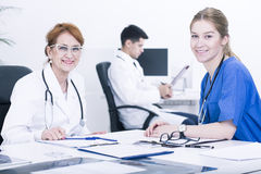 It's good to have other doctor's help Stock Photo