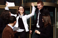 It's good to win. Team of business people winning Royalty Free Stock Images