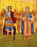 ` S Heilig-Michael Angels Golden Icon Saints George Kirche Madaba Jordanien Stockfotos