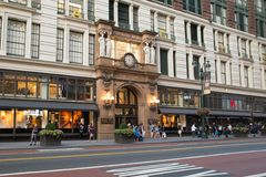 ` S Herald Square NYC de Macy Imagenes de archivo