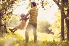 She`s his princess. Single father spending time with his daughter stock image
