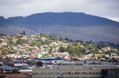 ` S Hobart Town Residential District della Tasmania Fotografie Stock