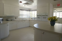 A 1950s home kitchen all in white in Agua Canyon, Tucson, AZ Stock Images