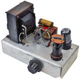 1950's home made amp ww2 surplus components. 1950's home made valve amplifier using world war two surplus components as would be constructed using a circuit from stock image