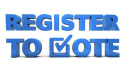 S'inscrire au vote - démocratie aux Etats-Unis Illustration Libre de Droits