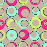 1960s inspired. Seamless colorful background inspired by retro style vector illustration
