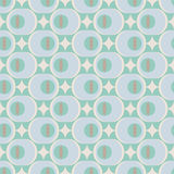 60s inspired. Seamless retro pattern, pastel colors, abstract vector illustration