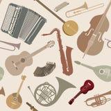 αφηρημένη μουσική ανασκόπη&s Άνευ ραφής σύσταση με το μουσικό instrum Στοκ φωτογραφία με δικαίωμα ελεύθερης χρήσης