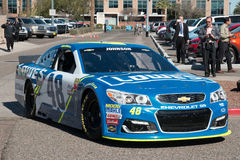 ` S Jimmie Johnson Day de NASCAR en Arizona Fotos de archivo