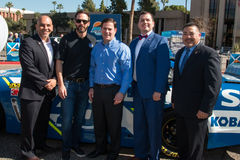 ` S Jimmie Johnson Day de NASCAR no Arizona Foto de Stock