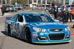 ` S Jimmie Johnson Day di NASCAR in Arizona Fotografie Stock