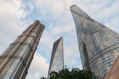 ` S Jin Mao Tower, centro finanziario del mondo di Shanghai, torre di Shanghai, le costruzioni più alte di Shanghai a Shanghai Fotografia Stock