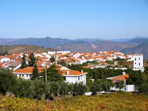 North Portugal landscape with mountains and vineyards royalty free stock photography