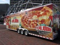 тележка пиццы s папы john Стоковые Фотографии RF
