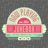 1950s Jukebox Style Logo Design royalty free illustration