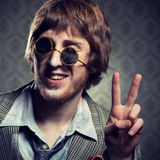1960s junkie guy Royalty Free Stock Images