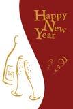 s karciany nowy rok Zdjęcie Stock