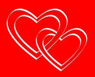 s karciany valentine Obrazy Stock