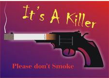 It's a Killer. Warning sign for the danger of smoking created in Coreldraw10 Royalty Free Stock Photography