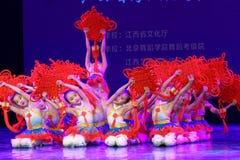 ` S Kinder chinesische des Knoten Peking-Tanz-Hochschulordnende Tests unterrichtende Leistungsausstellung Jiangxi hervorragenden  Stockfoto