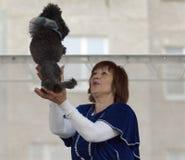 S.Korovaeva and her dogs Royalty Free Stock Photos