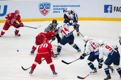 S. Kostitsyn (74) on face-off Royalty Free Stock Image