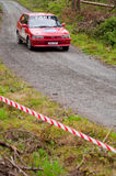 S. Lane driving Toyota Corolla Royalty Free Stock Images