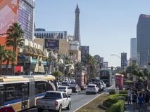 S Las Vegas Blvd, Las Vegas, USA Royalty Free Stock Photo
