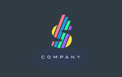 S Letter Logo with Colorful Lines Design Vector. Rainbow Letter. S Letter Logo Design with Colorful Rainbow Lines Vector. Rainbow Letter Icon Illustration Royalty Free Stock Photo