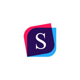 S letter logo company icon. Creative vector emblem bran Royalty Free Stock Image