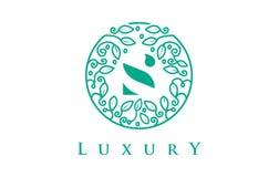 S Letter Logo Luxury.Beauty Cosmetics Logo. S Letter Logo Luxury. Green Beauty Cosmetics Logo Monogram Stock Photography