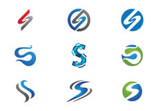 S Letter Logo Template Stock Photos