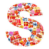 S Letter   made of giftboxes Stock Photos