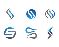 S Letter and S logo. Letter and number logo for other company Royalty Free Stock Photography