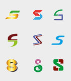 S letter symbol element design icon collection Royalty Free Stock Photography