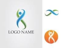 S-Leute Logo Template-Vektorikonendesign Stockbild