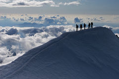 S'élever de montagne Photos stock