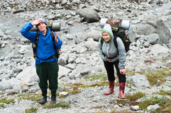 S'élever en montagnes Photos libres de droits